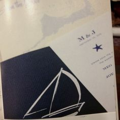 Nautical wedding invitations with monogram