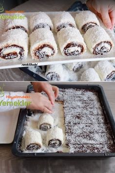 Delicious Desserts, Dessert Recipes, Turkish Sweets, Beignets, Food Presentation, Food To Make, Sweet Tooth, Food And Drink, Granola