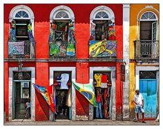 mundo, cores Pelourinho, Salvador-BA, Brasil