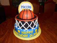 Pacers Basketball cake