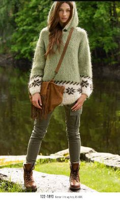 I love this sweater ~ The color choice is awesome.
