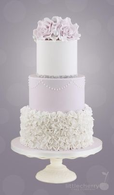 Lilac Ruffle Cake - Cake by Little Cherry