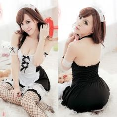 ชุดคอสเพลย์สาวใช้เซ็กซี่ พร้อมเสริฟความน่ารัก สีดำ มารับใช้คนที่คุณรักกันดีกว่า พร้อมส่งทั่วไทย