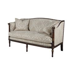A finely carved and gilt Neo-classical sofa, the gently undulating rectangular padded back and arms with turned, fluted and leaf carved uprights above a Greek key frieze on turned legs. The original Regency, circa Salon Furniture, Luxury Furniture Brands, Sofa Furniture, Furniture Projects, Living Room Furniture, Furniture Design, English Country Style, French Country House, Chinoiserie