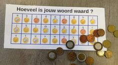 How much is your word worth? – From JufMarjan rnrnSource by Math Board Games, Math Boards, Primary Education, Primary School, Escape The Classroom, Euro, Math Notes, Busy Boxes, Escape Room