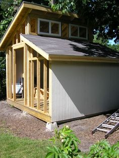 Courteous enabled shed building ideas visit site Wood Shed Plans, Shed Building Plans, Diy Shed Plans, Building Ideas, Backyard Sheds, Outdoor Sheds, Shed Design, Tiny House Design, Plan Design