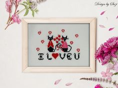 Lynn B - Valentine Cats (Mini cat series) Be My Valentine, Cats, Mini, Frame, Pictures, Design, Home Decor, Picture Frame, Photos