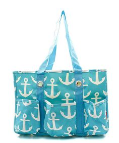 Nautical Anchor Print Utility Tote Handbag Beach Boating Outdoor Activities #Unbranded #TotesShoppers