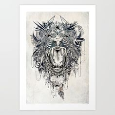 Lion Art Print by Feline Zegers. Worldwide shipping available at Society6.com. Just one of millions of high quality products available.
