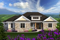Ranch Style House Plan - 2 Beds 2.5 Baths 2598 Sq/Ft Plan #70-1175 Exterior - Front Elevation - Houseplans.com