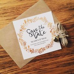 100 Save the Date Cards - Customisable - 100% Recycled Card 300GSM - Gold - Copper - Silver - Blessing & Honour