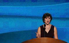 Women's right activist, Sandra Fluke at the DNC.