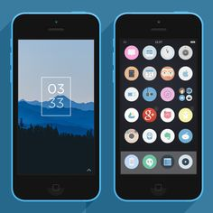 In this series we showcase a handpicked selection of some fantastic looking Android and iPhone homescreens and lockscreens. These won't be your ordinary