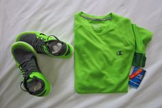 Nike Free 4.0 Flyknit  Grey/Black Electric Green With Free Champion Vapor Shirt #Nike #RunningCrossTraining