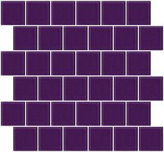 2x2 Inch Lavender Purple Glass Tile Offset