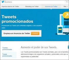Twitter Anuncios con Tweets promocionados. Desde junio Twitter permite a las Pymes españolas insertar anuncios. El anuncio de un Tweet promocionado puede ser segmentado según diversos criterios.  Otra novedad serán los Twitter Videos promocionados. Accede a más información en: http://marketingweb.com.es/marketing-redes-sociales/twitter-anuncios-para-publicidad-digital/