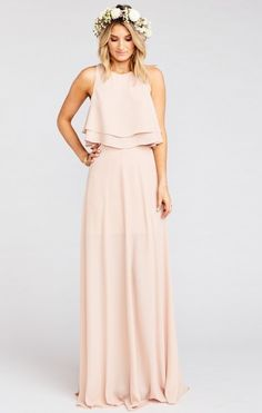 Princess Ariel Ballgown Maxi Skirt ~ Dusty Blush Crisp