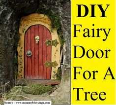 DIY Fairy Door...For more creative tips and ideas FOLLOW https://www.facebook.com/homeandlifetips