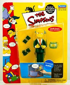Playmates - The Simpsons - World of Springfield Interactive Figures - Series 1 - Montgomery Burns figure w/custom accessories Playmates/The Simpsons