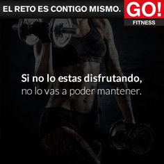 ¿Lo estás disfrutando? #gofitness #clasesgo #ejercicio #gym #fit #fuerza #flexibilidad #reto #motivate #frases Go Fitness, Fitness Nutrition, Gym Time, Just Do It, Weight Loss Motivation, Hiit, Gym Workouts, Letting Go, Crossfit