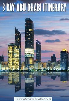 Looking for the perfect Abu Dhabi Itinerary to make the most of your 3 days in Abu Dhabi? This comprehensive city guide will give you plenty of tips! Ferrari World, Grand Mosque, Travel Oklahoma, New York Travel, United Arab Emirates, Abu Dhabi, Thailand Travel, Willis Tower, Travel Guides