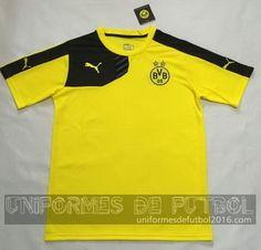 Venta de uniforme del entrenamiento amarillo Borussia Dortmund 2015-16 8092105d429