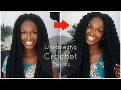 Unraveling My Crochet Havana Twists - YouTube