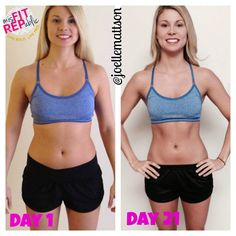 Joelle Mattson's personal results with the 21 Day Fix