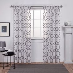 Add a trendy look to your windows with the Muse Rod Pocket Window Curtain Panel Pair. With a textured jacquard linen look and a stylish gated geometric pattern, this window curtain panel pair will complete the room setting in any home. Mattress Furniture, Exclusive Home, Space Furniture, Curtains, Panel Curtains, Rod Pocket Curtains, Rod Pocket Curtain Panels, Sheer Curtain Panels, Home Curtains