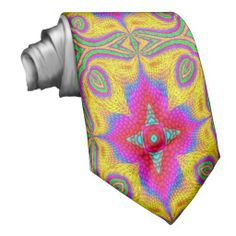 Colorful multicolored abstract pattern custom tie