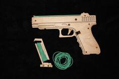 rubber band Glock, резинкострел Глок