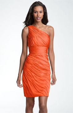 ML Monique Lhuillier Bridesmaids Ruched One Shoulder Chiffon Sheath Dress (Nordstrom Exclusive) available at ( in same purple hue) Monique Lhuillier Bridesmaids, Ml Monique Lhuillier, Coral Bridesmaid Dresses, Diva Fashion, Style Fashion, Formal Dresses, Wedding Dresses, Dresses Dresses, Party Dresses
