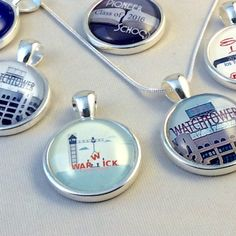 JW.ORG Circle Pendant -Choice of Watchtower Sign, Warwick, Pioneer School, Etc.*** 22mm glass circle, approximately the size of a quarter. Choice of style. 17 Silver-plated chain. Beautiful Blue Velvet Gift Bag with Monkey Charm Included