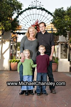 Fun group family portrait photo ideas at St. Saint Philips Plaza in Tucson AZ Arizona taken by Michael Chansley Photography Kids teenagers parents couples children teens baby sunset