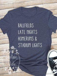 Baseball Shirt - Softball - Sports Shirt - Ballfield - Homerun Shirt - Baseball Mom - Softball Mom - Softball Shirt - Stadium Shirt - Sports by CottonStateGifts on Etsy