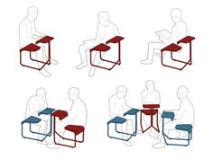 Toboggan Chair for Knoll, Inc. by Antenna Design New York Inc. , via Behance