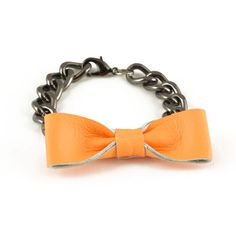 Leather Bow Bracelet.. Also in green and black.. But I think I like this better