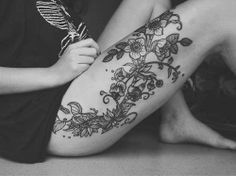 Flower Hip tattoo