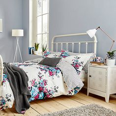 Buy Joules Charlotte Floral Bedding Online at johnlewis.com