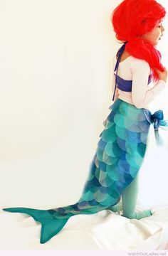 Mermaid costume for little girls                              …