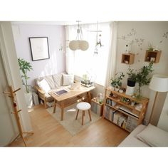 Home interior Design Videos Living Room Hanging Plants Link – Right here are the best pins around Coastal Home interior! Studio Apartment Decorating, Apartment Interior, Korea Apartment, Cozy Studio Apartment, Minimalist Studio Apartment, Interior Livingroom, Living Room Decor, Bedroom Decor, Deco Studio