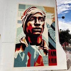 Shepard Fairey in Raleigh, North Carolina, USA, 2020 Carolina Usa, North Carolina, Shepard Fairy, Art Forms, Murals, Graffiti, Street Art, Play, Eye