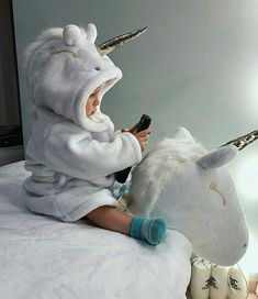 Riding the unicorn Riding the unicorn - Cute Adorable Baby Outfits Cute Little Baby, Baby Kind, Little Babies, Little Ones, Cute Babies, Small Baby, Foto Baby, Cute Baby Pictures, Everything Baby
