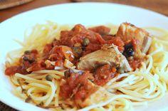 Spaghette cu ton si capere