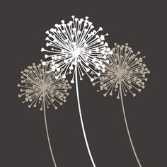 Items similar to Dandelion by KathWren - Vinyl Wall Decal on Etsy Another wall decal. how will I ever decide?