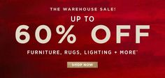 Up to 60% Off Warehouse Sale