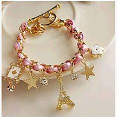 2017 New Trendy Leather Bracelet, Flower G Poker A Eiffel Tower Star Bracelets for Women,Cute Girl Charm Braclet Pulseras Hombre Braided Bracelets, Ankle Bracelets, Crystal Bracelets, Handmade Bracelets, Jewelry Bracelets, Bangles, Leather Bracelets, Link Bracelets, Jewelry Watches