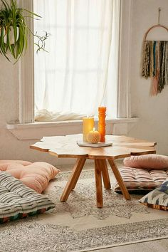 Pieced petal wood table - urban outfitters