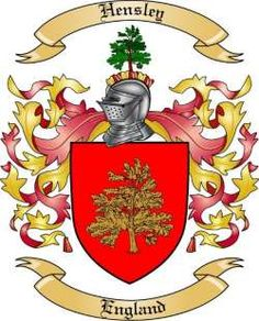 hensley family tree | Hensley Family Crest from England by The Tree Maker