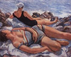 Bathers on the Beach Russian Painter Zinaida Serebriakova - Soviet Art, Oil Painting Reproductions, Art Moderne, Russian Art, Beach Scenes, Henri Matisse, Beach Art, Figure Painting, Art World